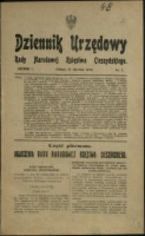 Dziennik Urzędowy Rady Narodowej Księstwa Cieszyńskiego, 1919, Nry 1-20
