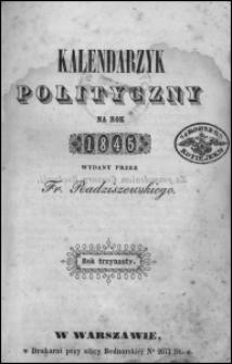 Kalendarzyk Polityczny na Rok 1845