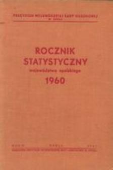 Rocznik Statystyczny Województwa Opolskiego, 1960, R. 4