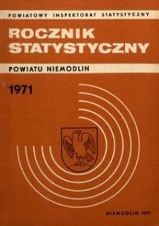 Rocznik Statystyczny Powiatu Niemodlin, 1971, R. 1