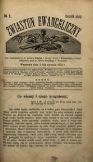 Zwiastun Ewangeliczny, 1902, R. 5, nr1