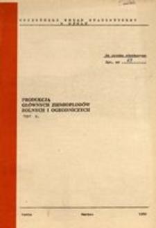 Produkcja głównych ziemiopłodów rolnych i ogrodniczych w 1981 r.