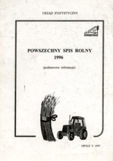 Powszechny Spis Rolny 1996 (podstawowe informacje)