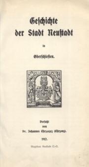 Geschichte der Stadt Neustadt in Oberschlesien
