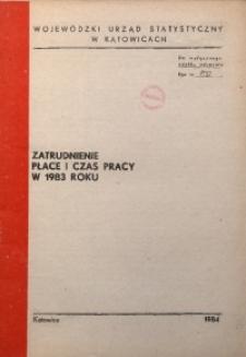 Zatrudnienie, płace i czas pracy w 1983 roku