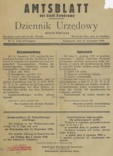 Amtsblatt der Stadt Dombrowa = Dziennik Urzędowy miasta Dąbrowy