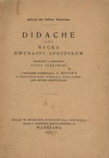 Didache, czyli Nauka dwunastu apostołów