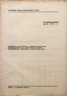 Informacja statystyczna z zakresu budownictwa mieszkaniowego oraz niektórych zagadnień infrastruktury społecznej w latach 1980-1986