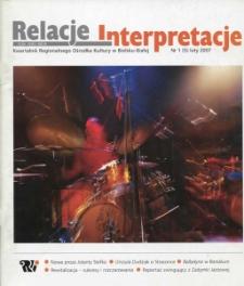 Relacje-Interpretacje, 2007, nr 1 (5)