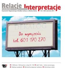 Relacje-Interpretacje, 2013, nr 2 (30)