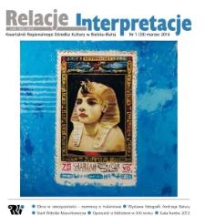 Relacje-Interpretacje, 2014, nr 1 (33)
