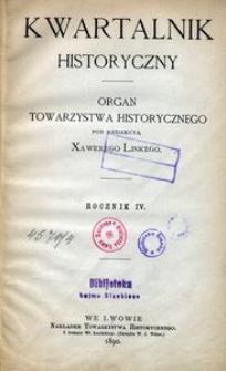 Kwartalnik Historyczny. R 4 (1890)