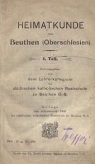 Heimatkunde von Beuthen (Oberschlesien). 1. Teil