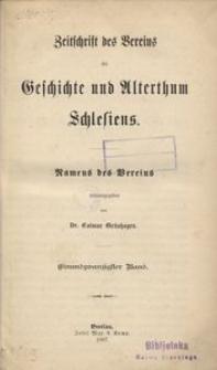 Zeitschrift des Vereins für Geschichte und Alterthum Schlesiens, 1887, Bd. 21