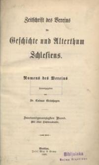 Zeitschrift des Vereins für Geschichte und Alterthum Schlesiens, 1888, Bd. 22